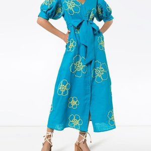 Kaleo Linen Embroidered Dress All Things Mochi